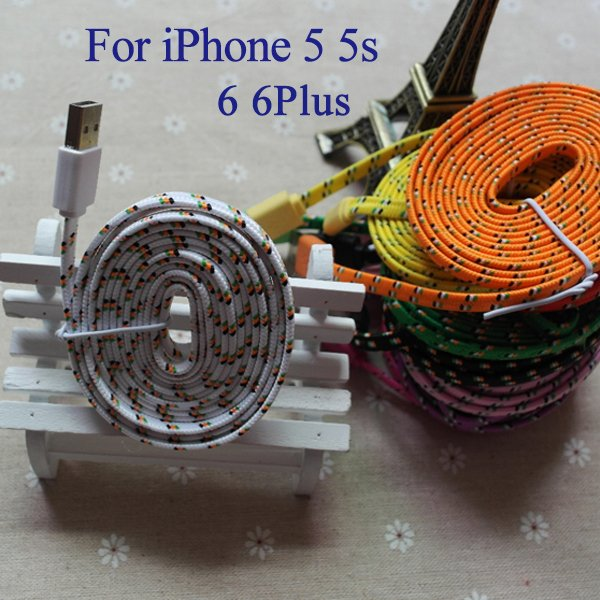 New Update Ios 8.2 Braided Wire 6Feet/2Meter 8Pin Usb Sync Chargin 2008040256-1-