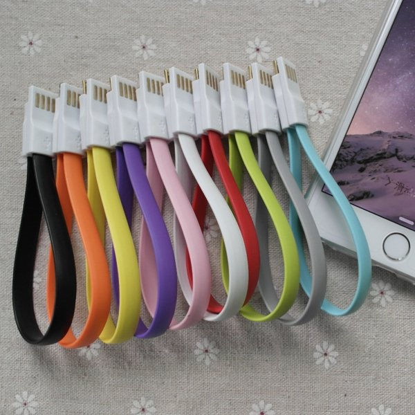 22Cm Noodle Magnet Short Wire Ios 8.2 To 8Pin Usb Sync Data Chargi 32250764094-1-