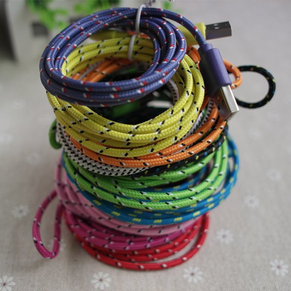 High Quality 2M/6Ft 30Pin Braided Woven Wire For Apple Iphone 4 4S 2055356651-1-