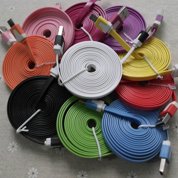 2M/6Ft Micro Usb Noodle Wire Sync Data Charging Cable Cord For Sam 2007898085-1-