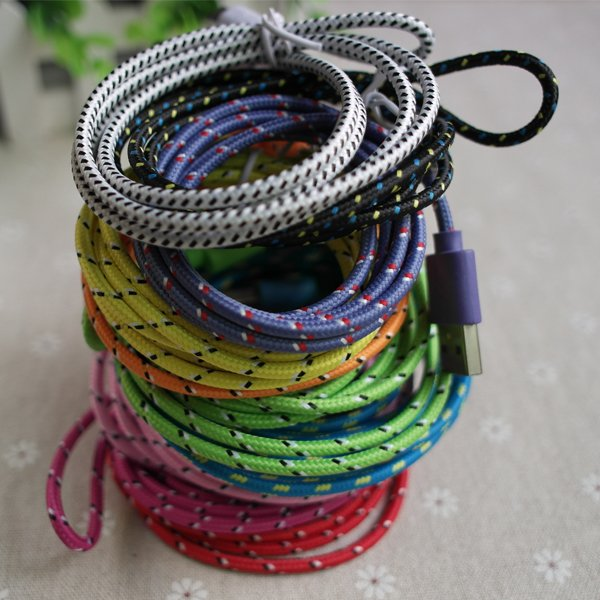 High Quality 1M/3Ft 30Pin Colorful Braided Fabic Woven Nylon Wire  2055344308-1-
