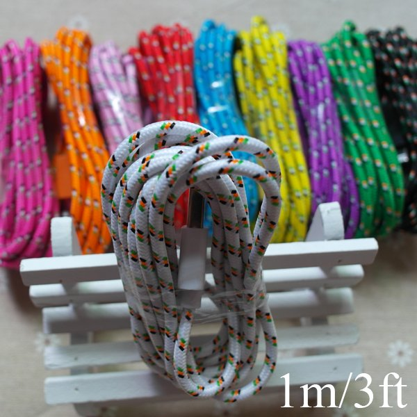 New Update 3Feet/1M Braided Wire Ios 8.2 To 8Pin Usb Date Sync Cha 2008276397-1-