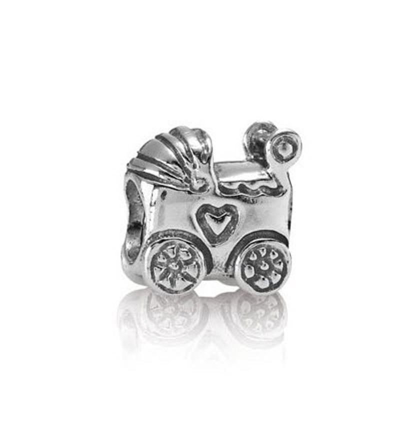 Authentic Pandora Charm 790346 Silver Baby Carriage