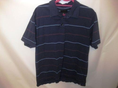 EUC Men's XL Banana Republic Blue Stiped Cotton Polo Shirt