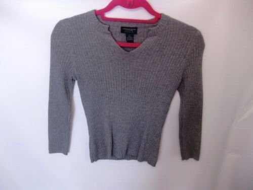 EUC Woman's Small American Eagle Grey Long Sleeve Sweater