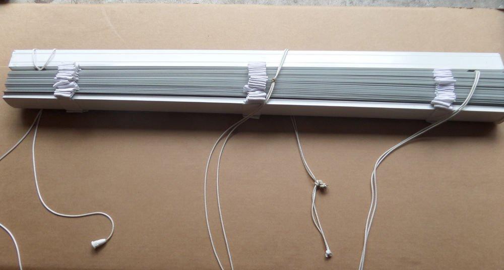 "Designer Two-Inch White Vinyl Window Blinds 46"" x 71"""