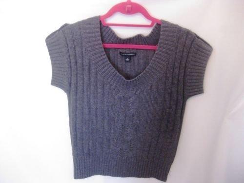 EUC Woman's Medium Banana Republic Grey Short Sleeve Sweater