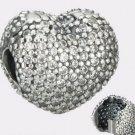 Authentic Pandora Sterling Silver Heart Pave CZ Clip 791427CZ