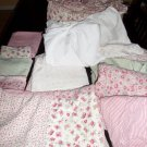 Large Waverly Baby Girl Crib Set Sheets, Fitted Sheets, Bumpers, Dust Ruffle, et