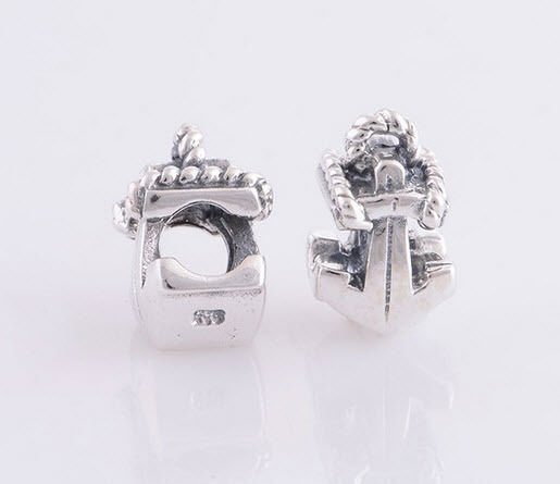 Sterling Silver 925 European Charm Boat Anchor Bead