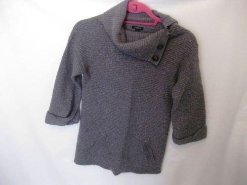 EUC Woman's Small Ann Taylor Grey Long Sleeve Cardigan Sweater
