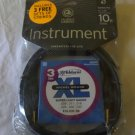 Planet Waves Custom Pro Series Instrument Cable, 10 feet with 3 Sets XL Strings