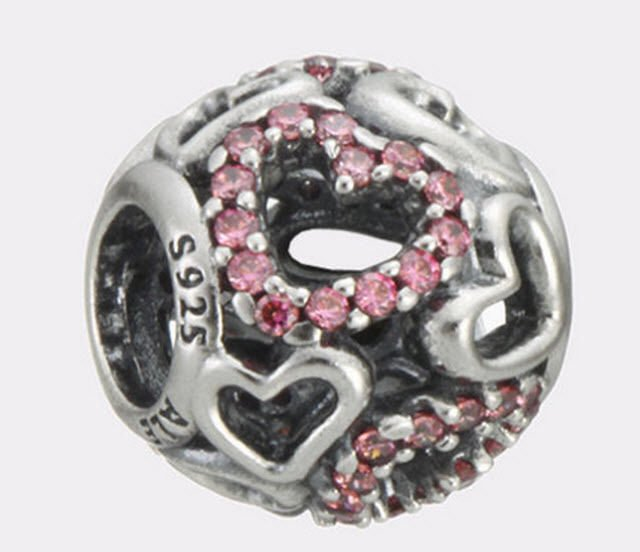 Authentic Pandora Sterling Silver Falling in Love Bead 791424CZS