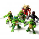 6 Pcs Teenage Mutant Ninja Turtles TMNT Action Figure Playset Cake Topper 4.8 cm