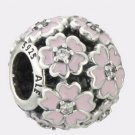 Authentic Pandora Sterling Silver Primrose Meadow Pink Enamel Bead 791488EN68