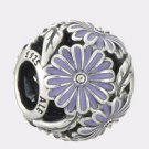 Authentic Pandora Sterling Silver Daisy Meadow Lavender Enamel Bead 791487EN66
