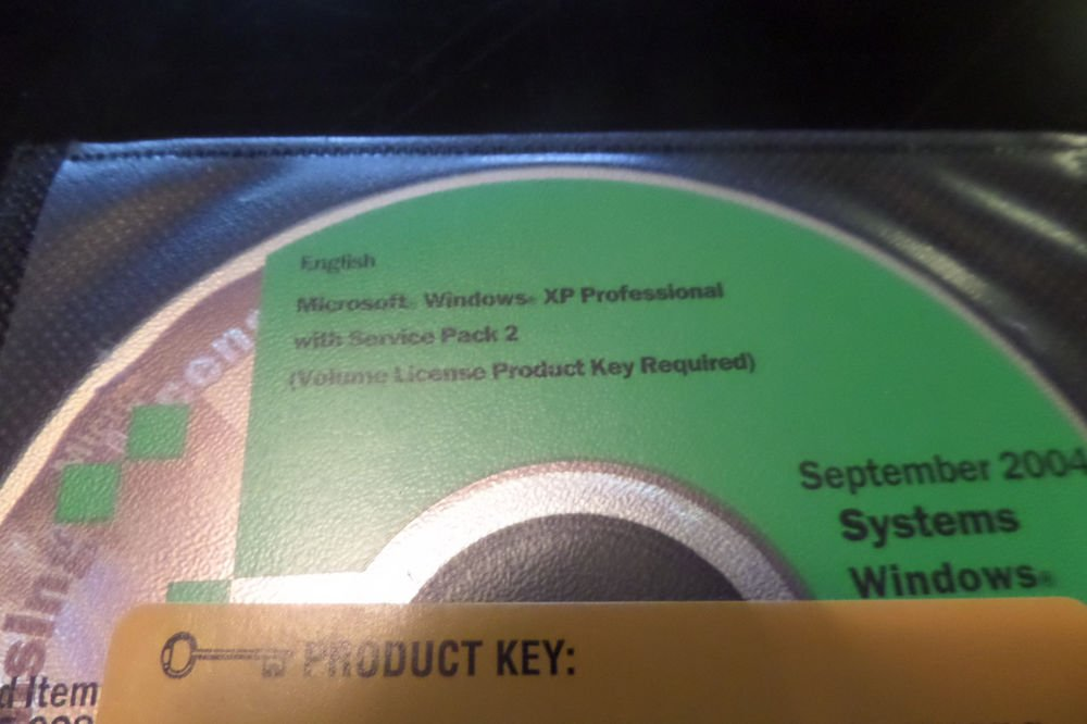 Microsoft Windows XP Professional Edition with Service pack 2 with Key