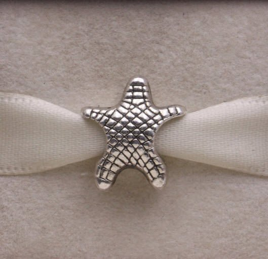 Solid Sterling Silver 925 European Star Fish Bead Charm