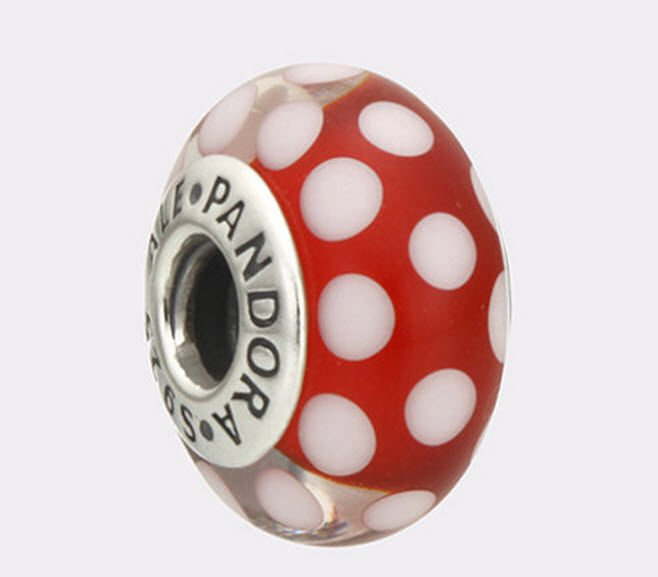 Authentic Pandora Disney Classic Minnie Murano Glass Charm # 791634