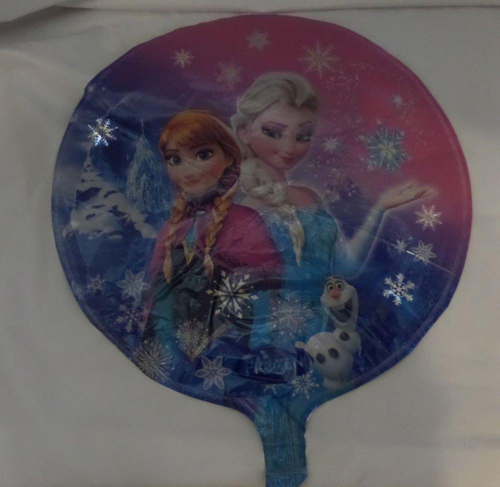 "Set Of 10 Disney Frozen Anna And Elsa Foil Mylar Balloon Birthday 18"""