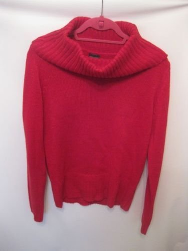 EUC Red and Shiny Thread Faded Glory Medium Sweater