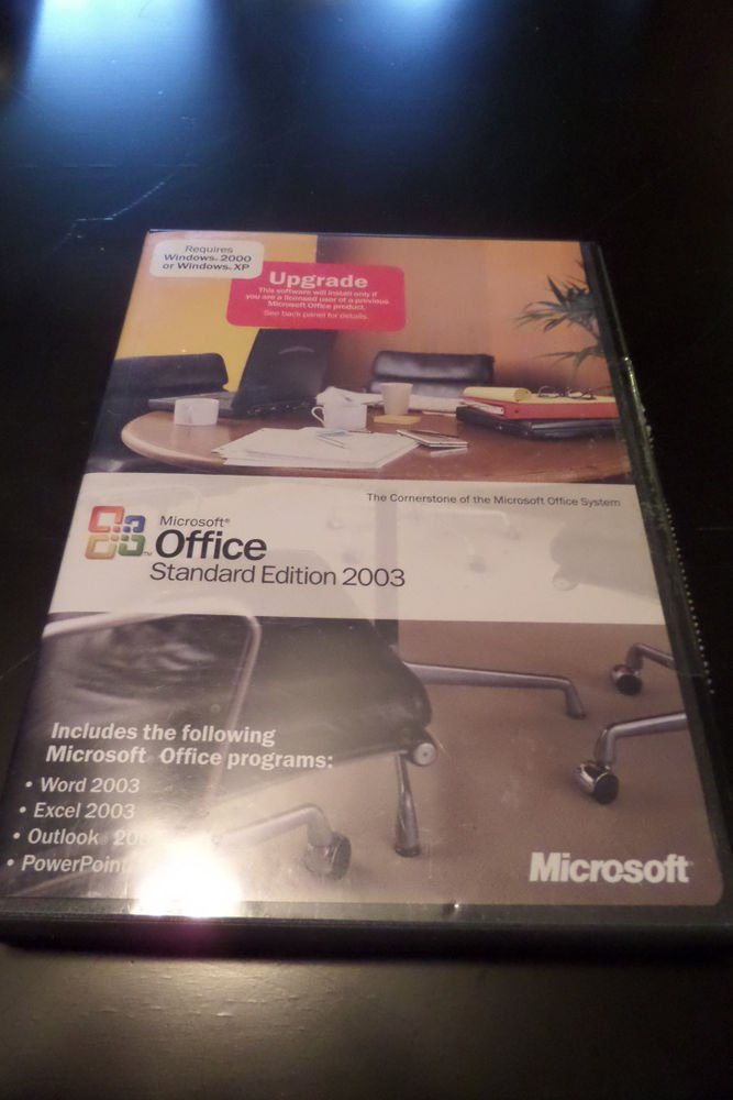Microsoft Office Standard Edition 2003 Upgrade