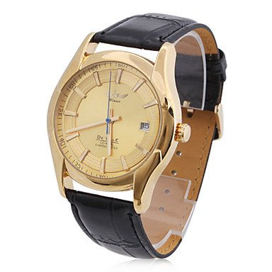 Men's Leather Analog Mechanical Casual Wrist Watch - DISCOUNT!!