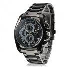 Men's Business Style Black Alloy Quartz Wrist Watch - GREAT DISCOUNT