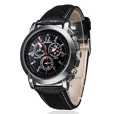 Men's Business Style PU Leather Band Quartz Wrist Watch