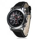 Men's Business Style PU Leather Band Quartz Wrist Watch
