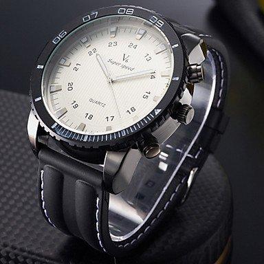 Men's Wrist Watch Military Steel Case Silicone Strap - **DISCOUNT**