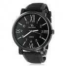Men's Wrist Watch Dress Watch Roman Numerals Dial Silicone Strap - **DISCOUNT**