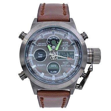 Men's Multifunctional Analog Digital Wristwatches Luxury 50M Waterproof