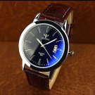 High-grade Leather Blue Ray Glass Business Quartz Watch - SPECIAL PRICE