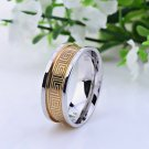 ** Men's Geometric Stainless Steel Ring **