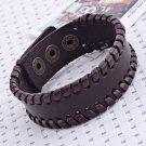 ** Classic Men's Simple Leather Braided Bracelet **