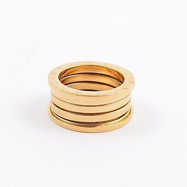 ** Men's Fashion Titanium Steel Spring Rings **