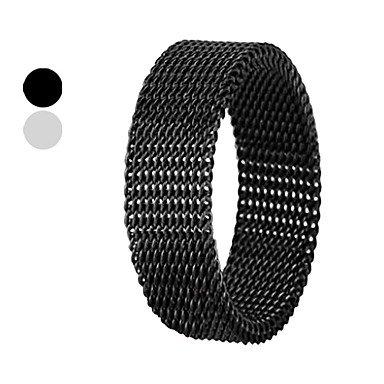 ** Men's Titanium Steel 6mm Netty Transmutable Ring **