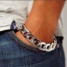 ** Men's Vintage Simple Chain Shape Alloy Chain & Link Bracelet **