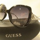 AUTH GUESS SUNGLASSES 7237 BLACK OVERSIZED LADIES w/ GUESS CASE