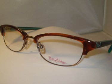 AUTH NEW LILLY PULITZER EYEGLASSES FRANCO HAVANA WOMENS