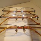 AUTH LOT 3 GANT RUGGER MENS EYEGLASSES WAKE GUN SEMI RIMLESS