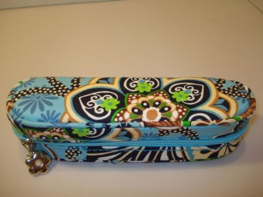 AUTH NEW VERA BRADLEY EYEGLASSES ZIPPERED CASE BALI BLUE # 16