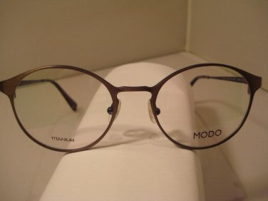 AUTH NEW MODO EYEGLASSES 4025 TITANIUM ANTIQUE PEWTER LG ROUND  w/CASE