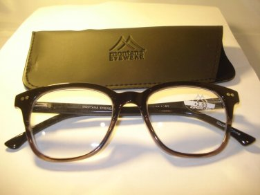 AUTH MONTANA DESIGNER UNISEX GEEK READING GLASSES READERS BLACK GREY  2.50