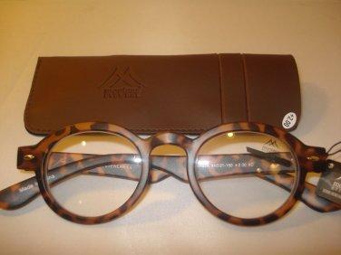 AUTH MONTANA VINTAGE DESIGNER PREPPY ROUND READING GLASSES READERS TORTOISE 3.50