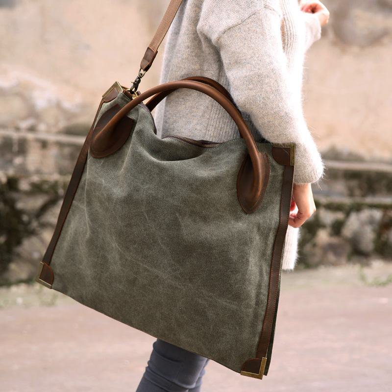 2. MARK II VINTAGE� Canvas leather shoulder bag. FREE DELIVERY