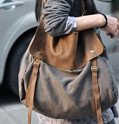 3. Canvas & Leather Bag Shoulder Bag Messenger. FREE DELIVERY