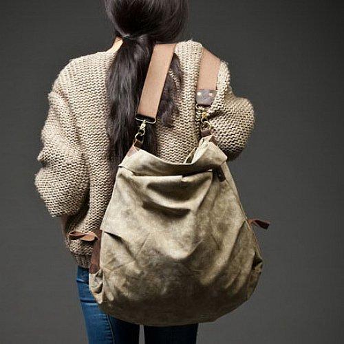 5. VINCI� Canvas leather shoulder bag. FREE DELIVERY