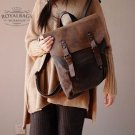 7. Backpack VINTAGE 2 Retro™ Canvas cowhide leather. Coffee. FREE DELIVERY